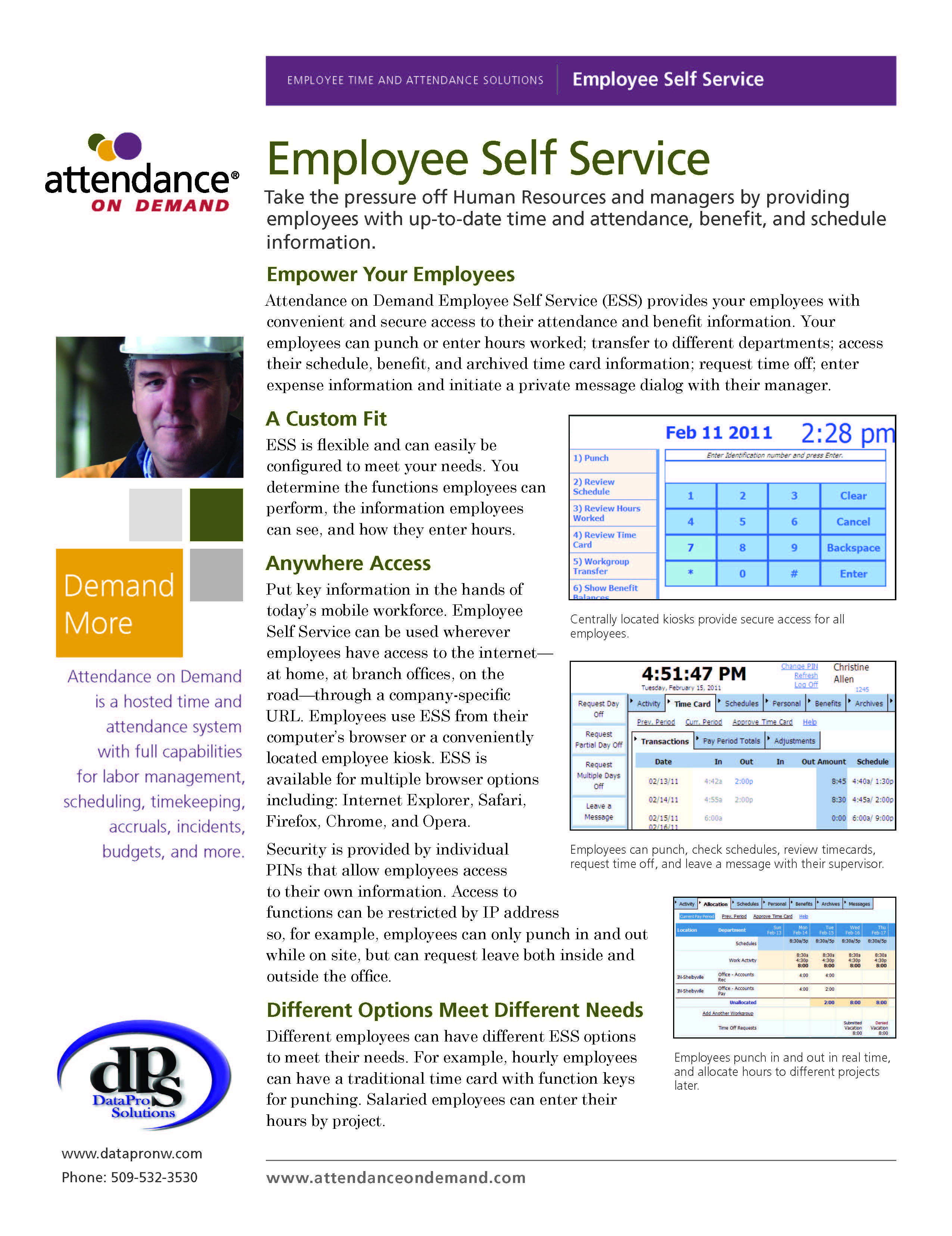 Time and Attendance Machine and Software Systems | Data Pro Solutions