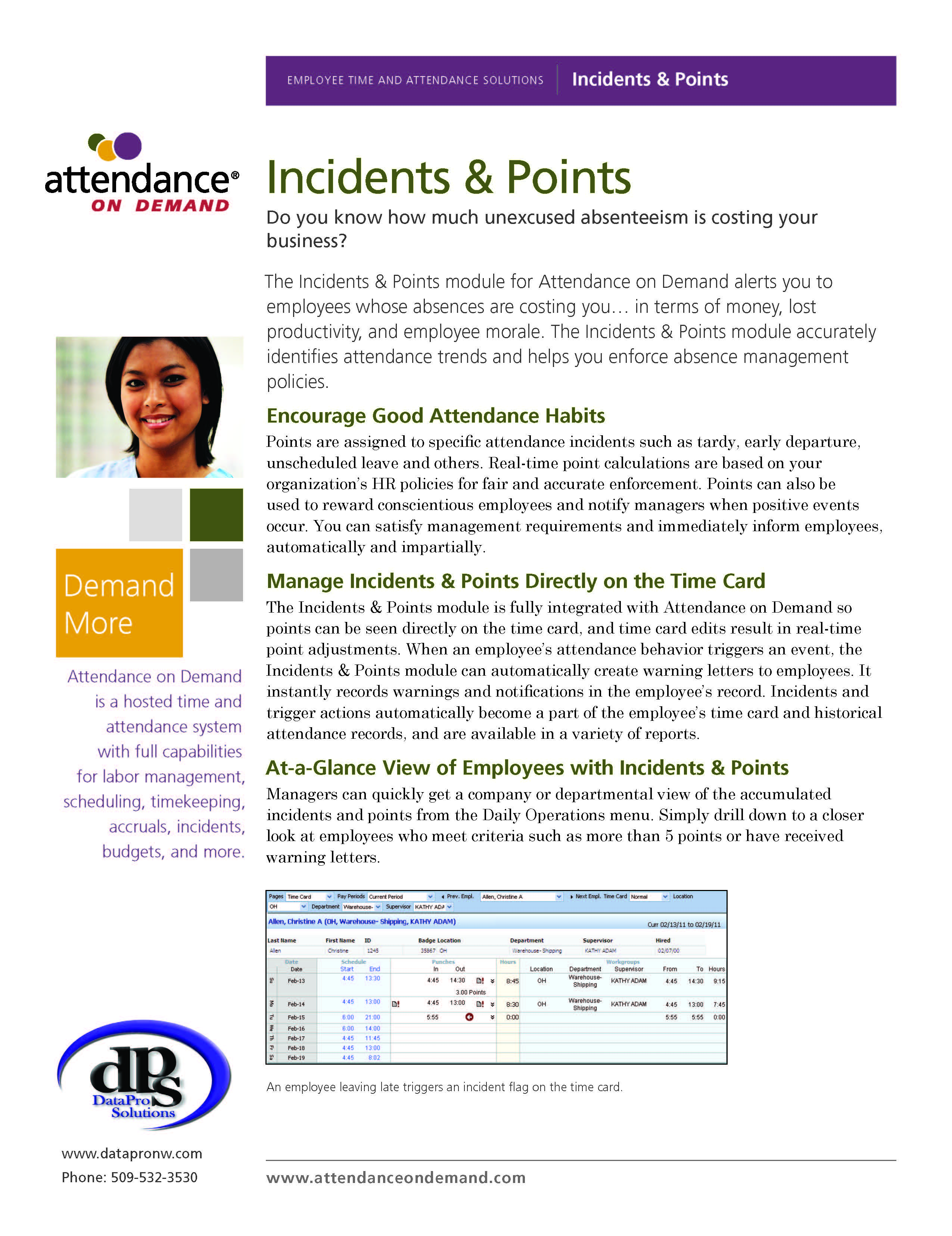 time and attendance machine and software systems data pro solutions